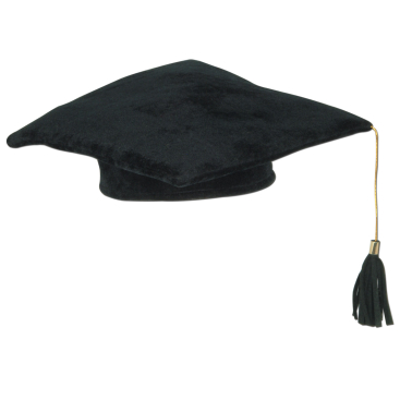 Graduation Plush Black Cap with Tassel