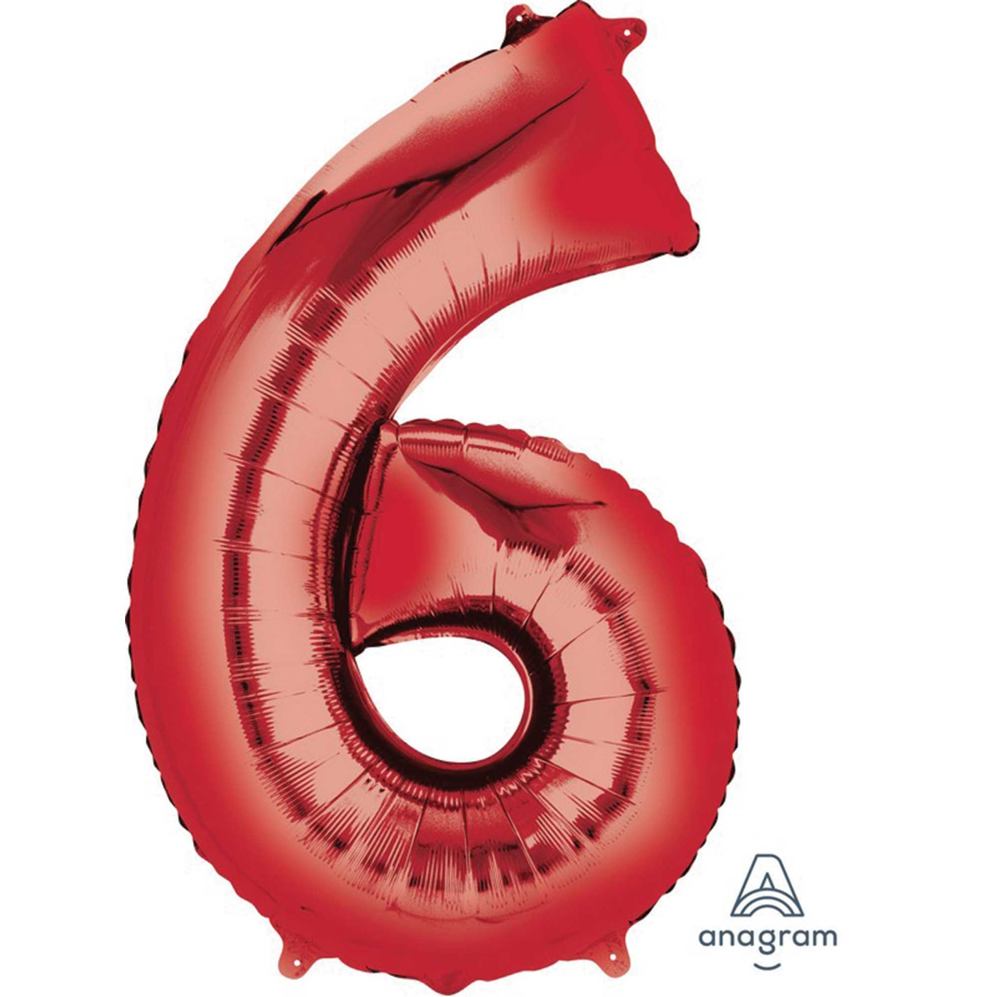 SuperShape Red Numeral 6.  L34