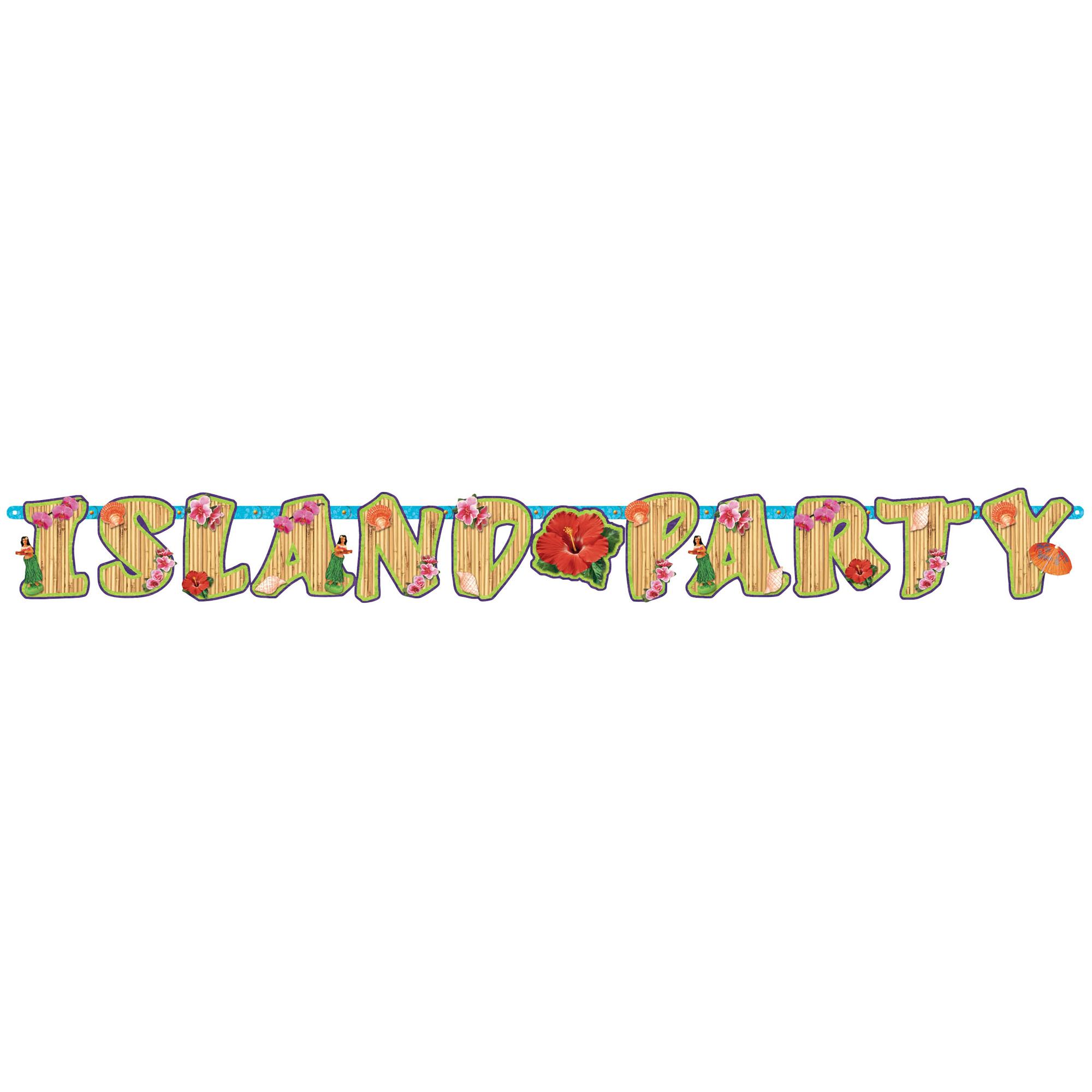 Summer Luau Island Party Cardboard Letter Banner