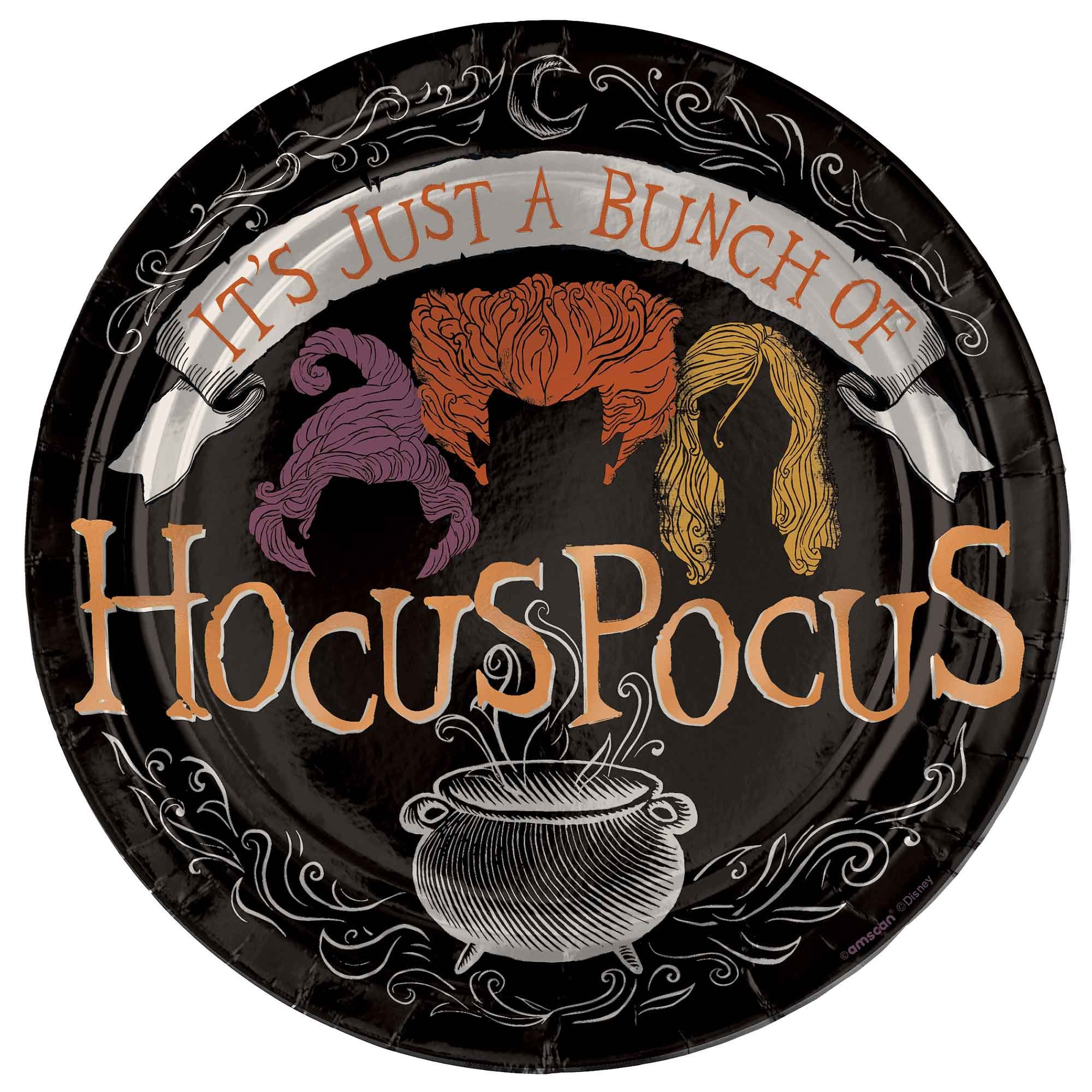 """""""Hocus Pocus 7""""""""/ 17cm Round Foil Plates"""