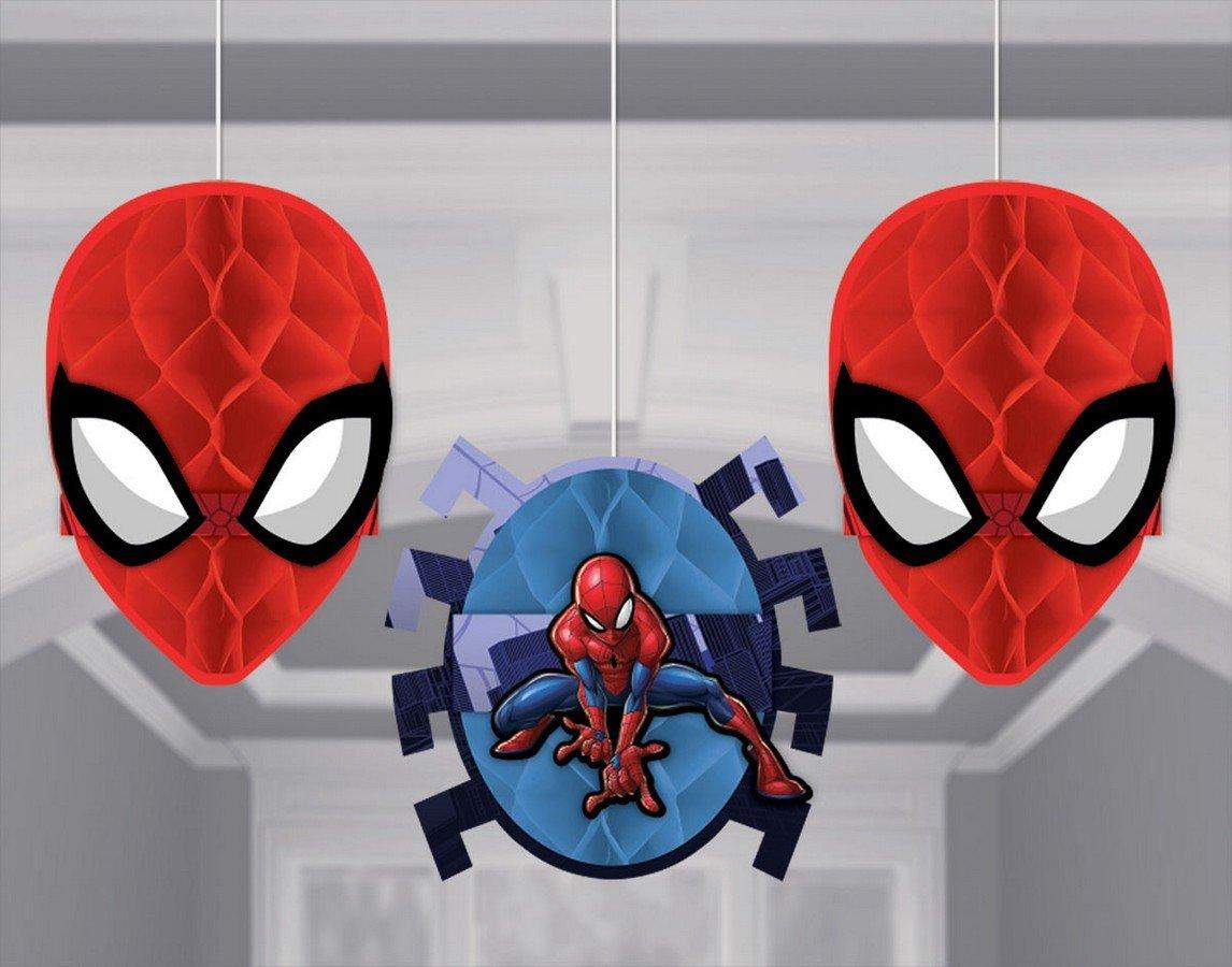 Spider-Man Webbed Wonder Honeycomb Decorations - Tissue & Printed Paper