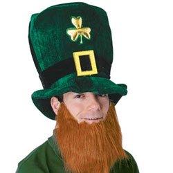 St Patrick's Day Leprechaun Plush Hat & Beard Set