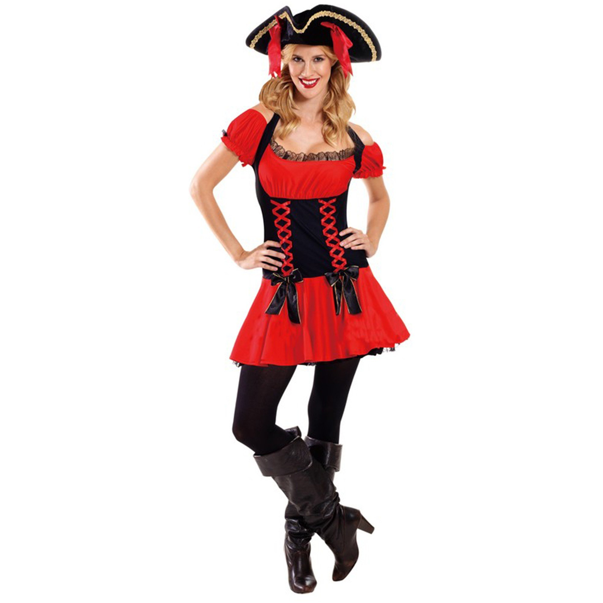 Deluxe Pirate Girl Costume (Small)  - Adult