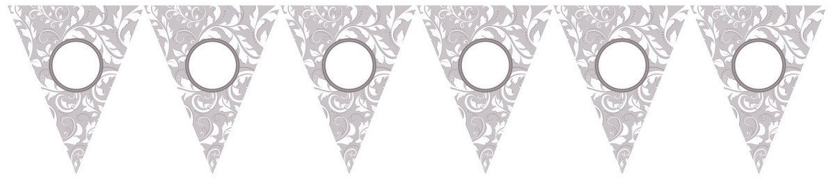 Silver Scroll Personalized Pennant Banner