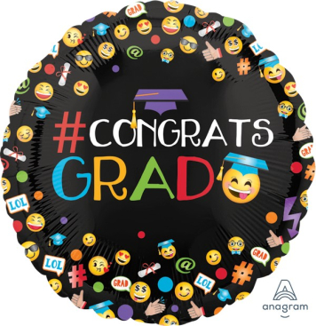 45cm Standard HX Awesome Congrats Grad Emoticons S40