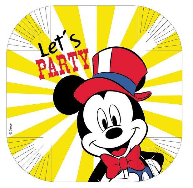 Disney Mickey Carnival 25cm Square Plates