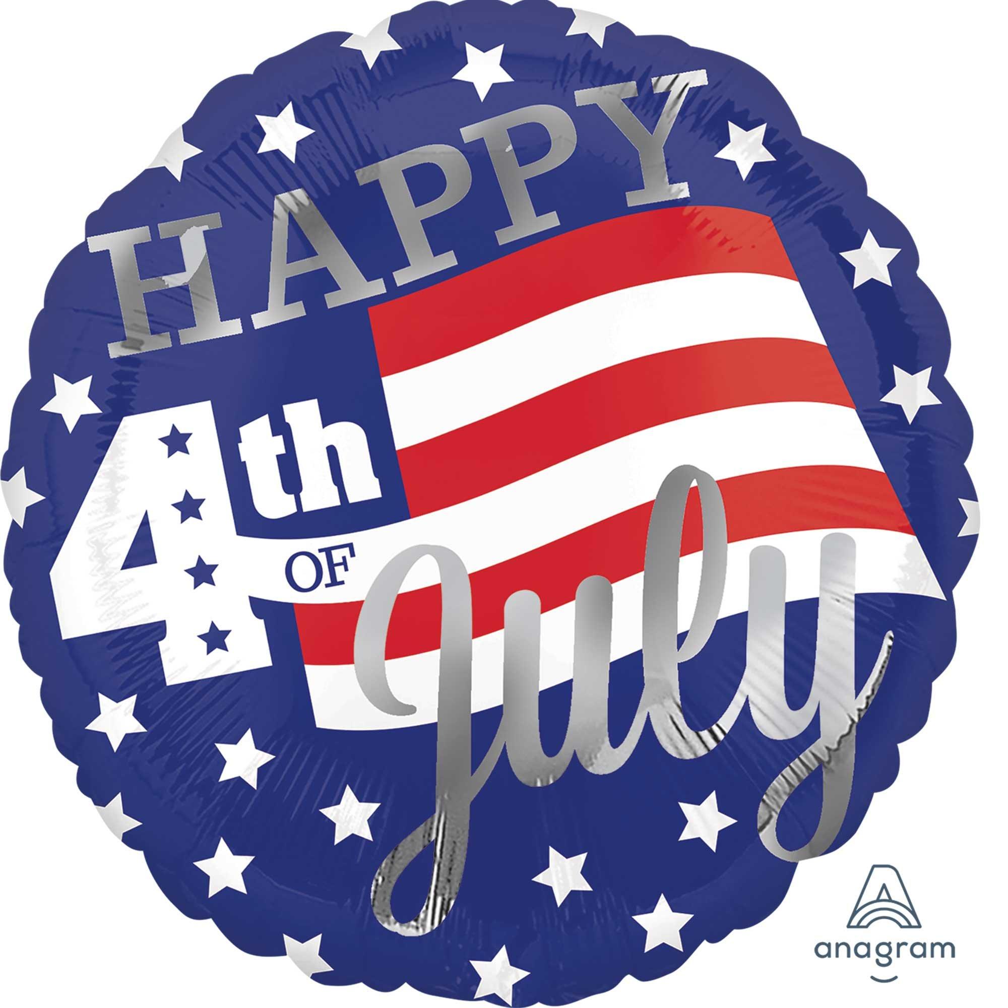 45cm Standard Happy 4th of July Stars & Stripes S40