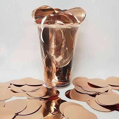 Confetti Rose Gold Metallic 3.5cm Circles Round