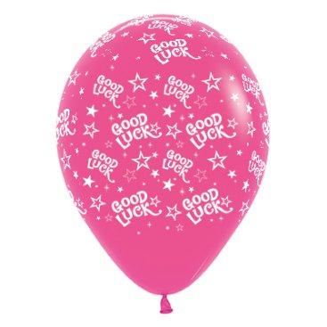 Sempertex 30cm Good Luck Stars Fashion Fuchsia Latex Balloons, 6PK