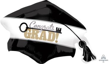 SuperShape Key to Success Cap Congrats Grad P30