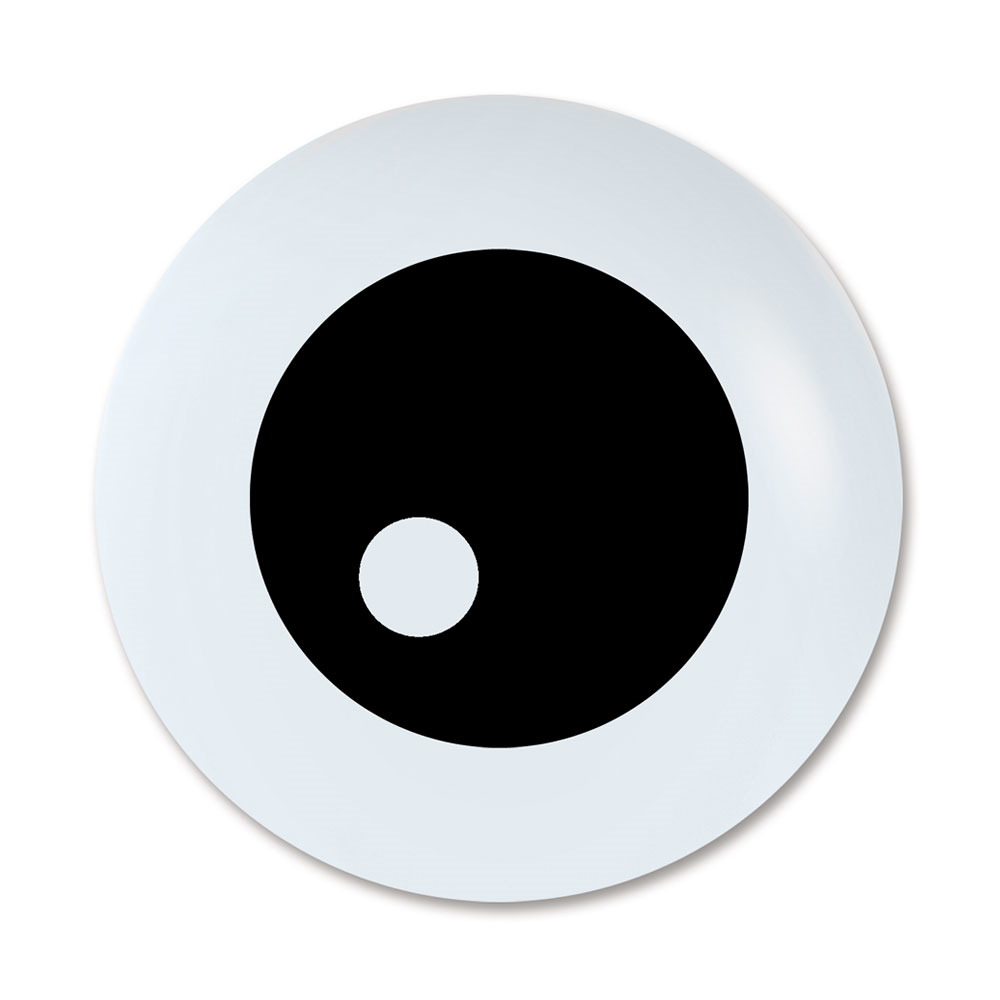 Sempertex 12cm Friendly Eyeball Black on Fashion White Latex Balloons, 12PK
