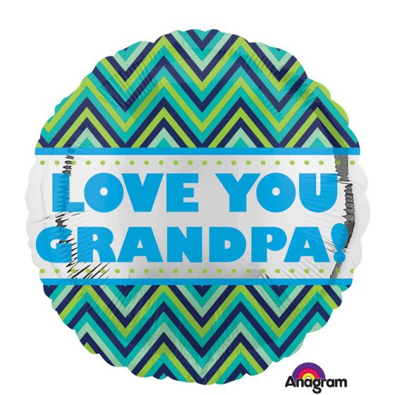 45cm Standard HX Love You Grandpa Chevron S40