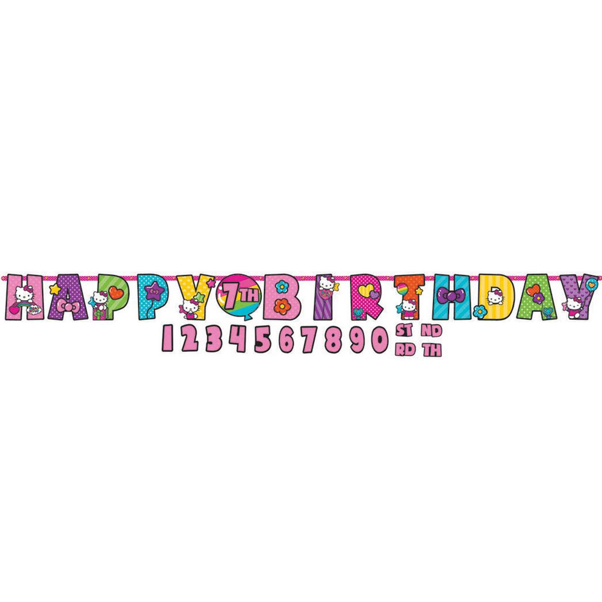 Hello Kitty Rainbow Jumbo Add-An-Age Banner