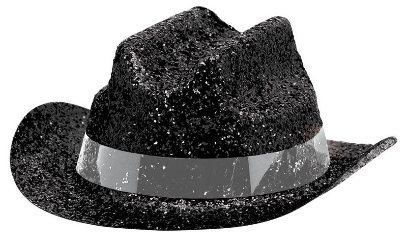 Mini Glitter Cowboy Hat - Black