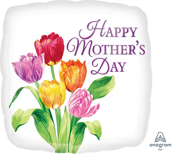 45cm Standard HX Happy Mother's Day Pretty Tulips S40