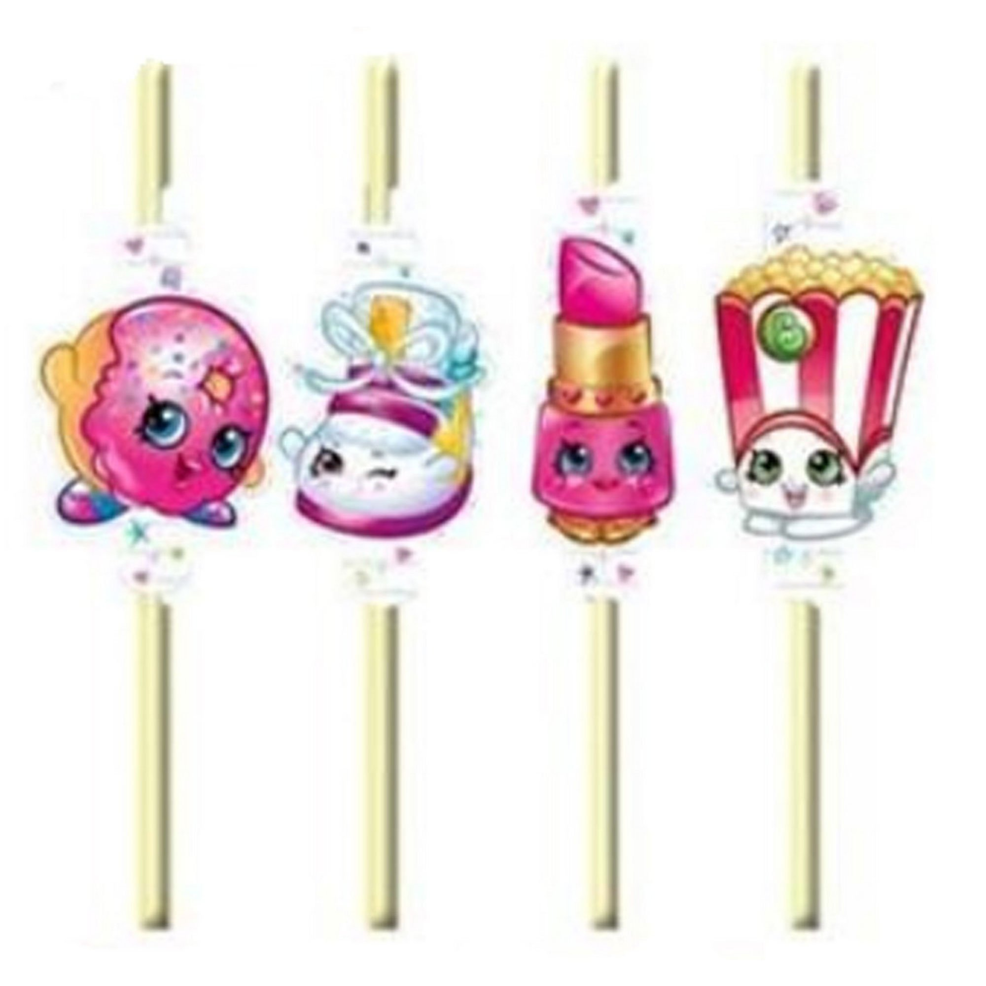 Shopkins Straws
