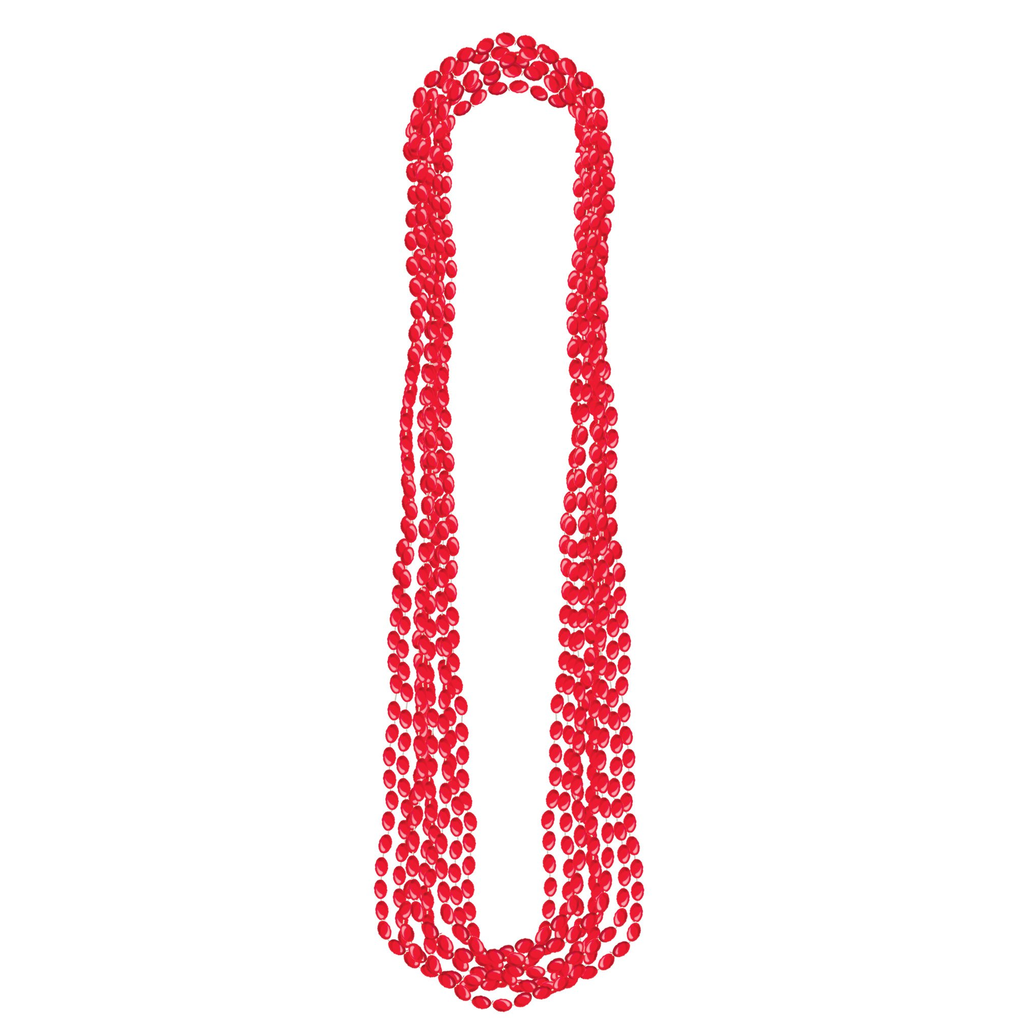 Metallic Necklace - Red
