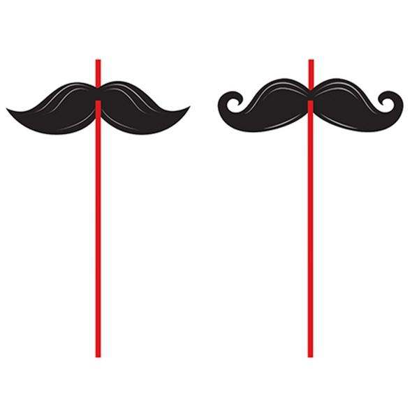 Moustache Madness Straws