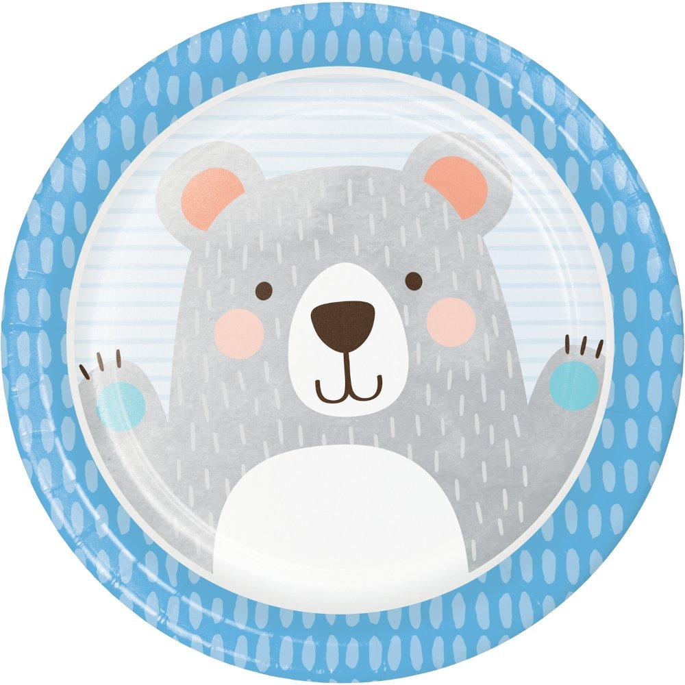 1st Birthday Bear Dinner Plates Paper 22cm