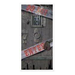 Spooky DO NOT ENTER Door Cover