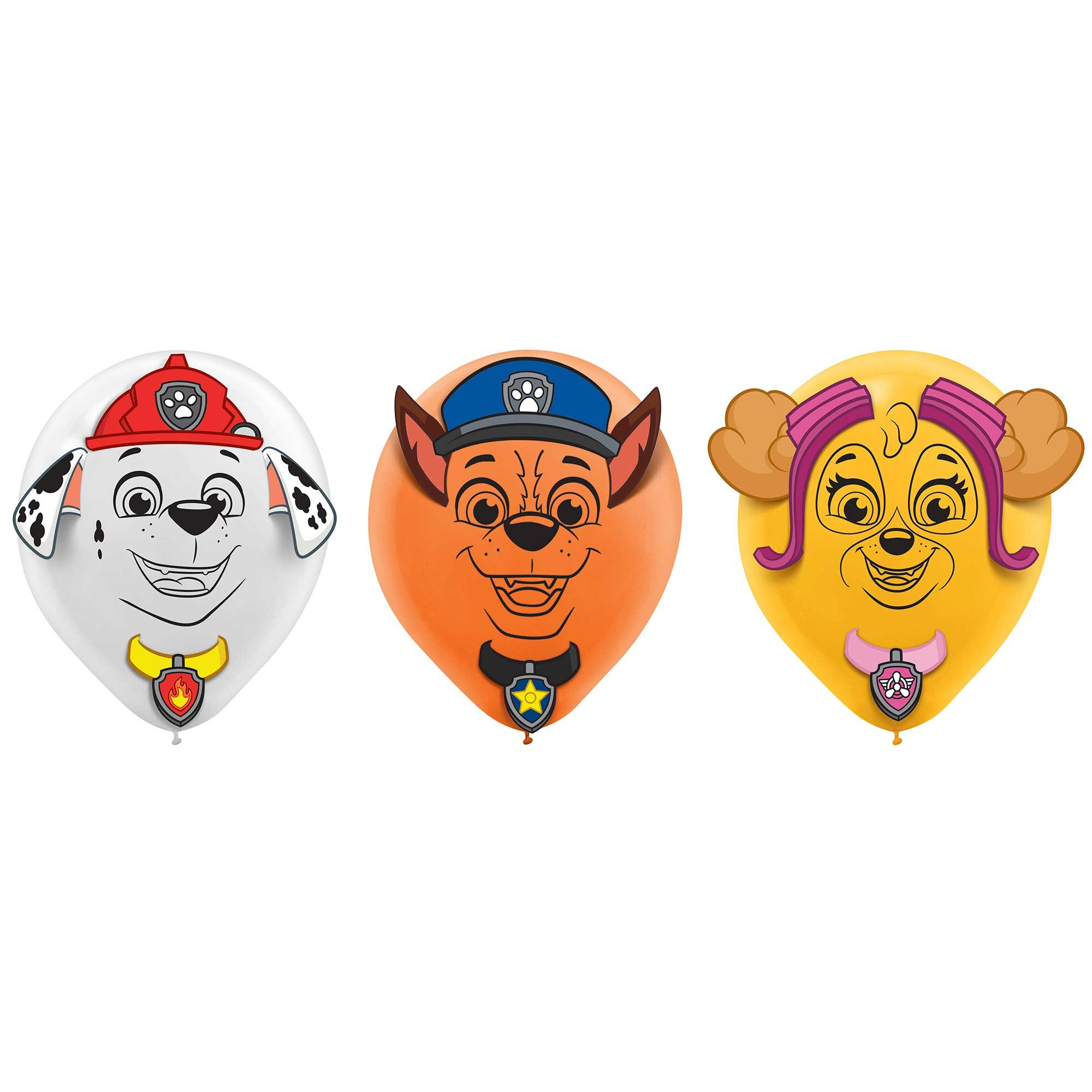 Paw Patrol Adventures 30cm Latex Balloons & Paper Adhesive Add-Ons