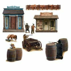 Western Wild West Shootout Wall Decorations Insta-Theme Props