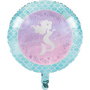 45cm Mermaid Shine Iridescent Foil Balloon
