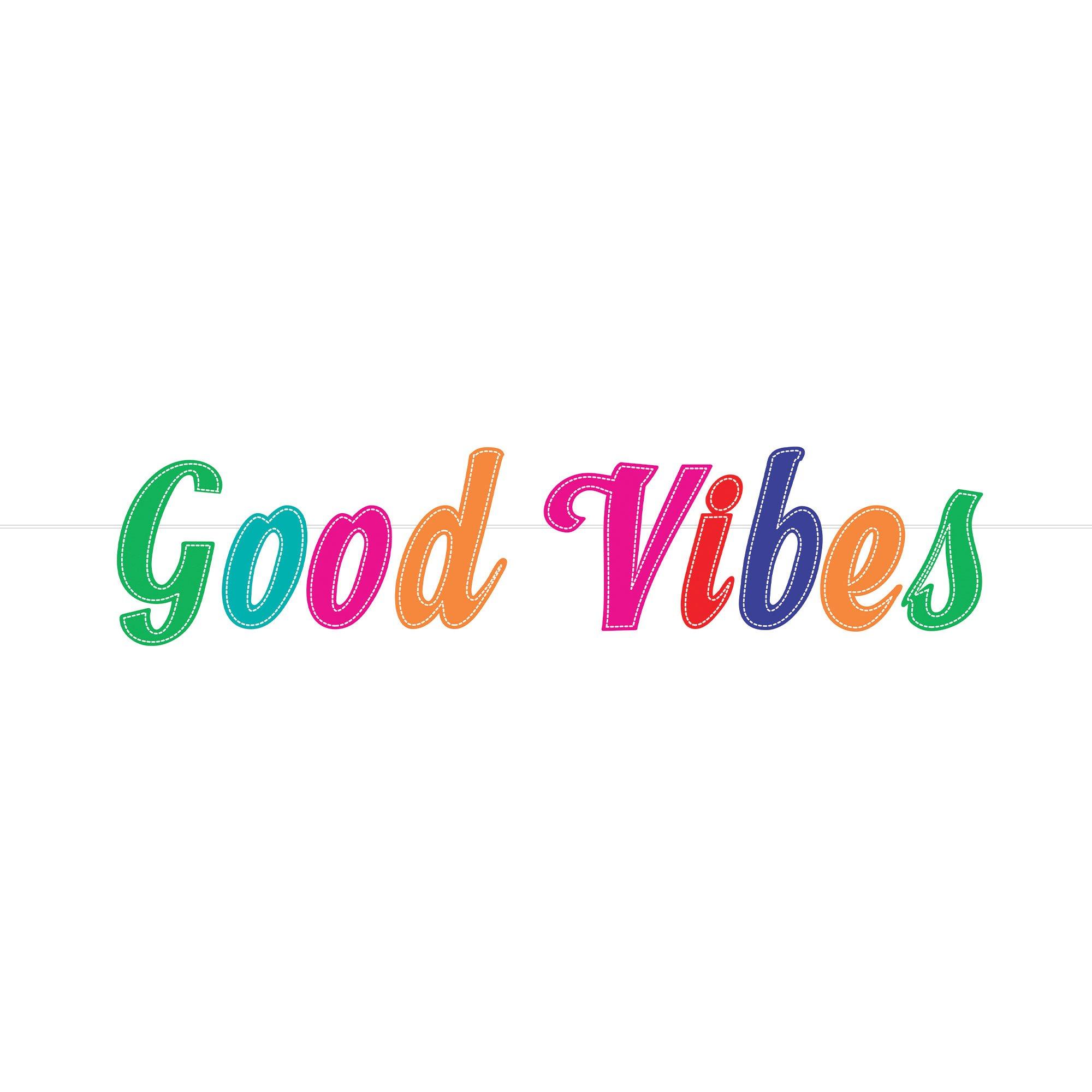 Good Vibes 70's Good Vibes Letter Banner
