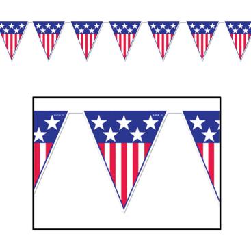 Pennant Flag Banner Spirit Of America
