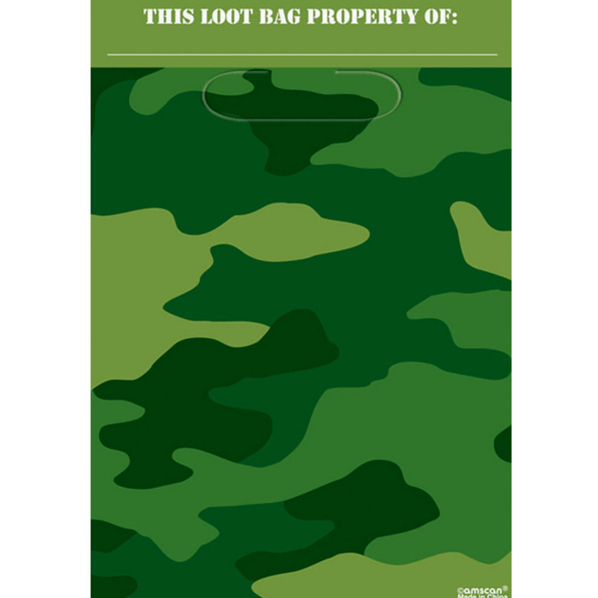 Camouflage Folded Loot Bags