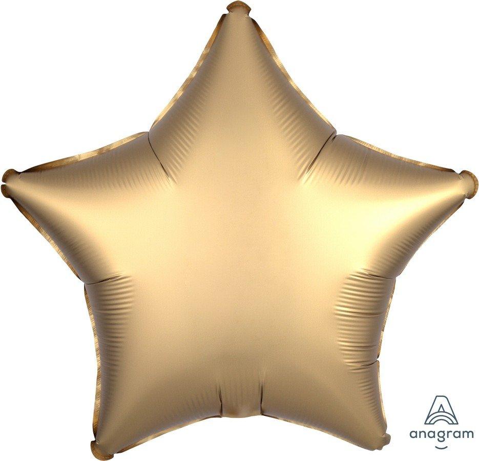 45cm Standard XL Satin Luxe Gold Sateen Star S15