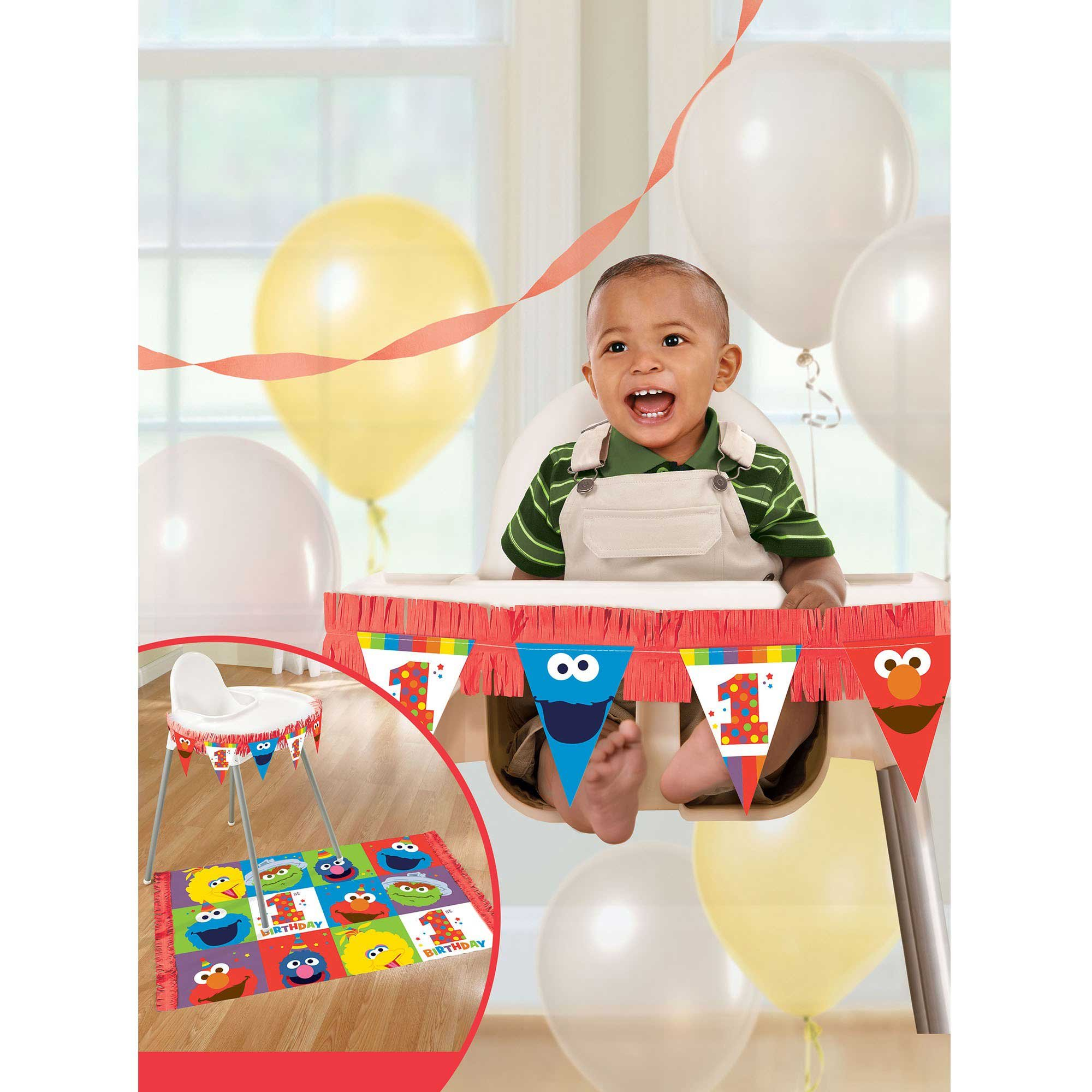 Elmo Turns One High Chair Decorations Kit
