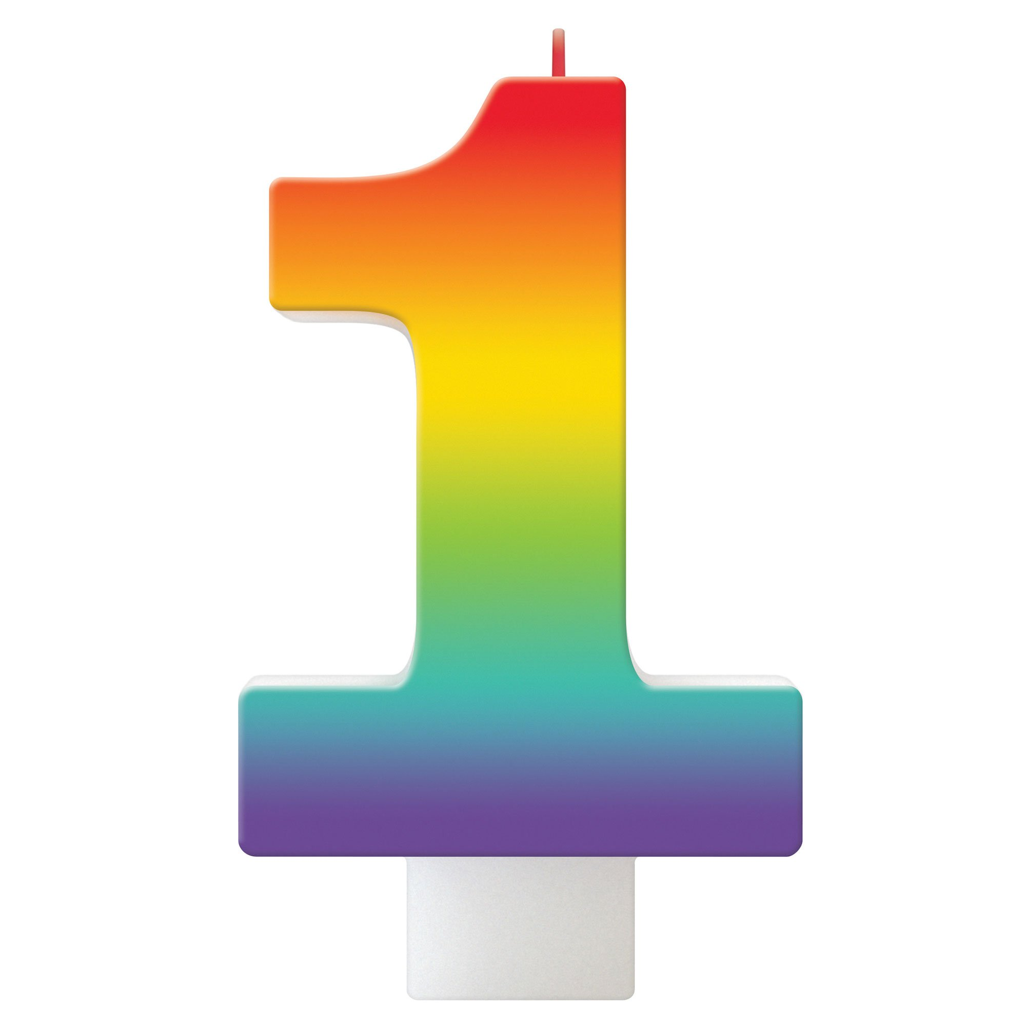 Birthday Celebration Rainbow Candle Number #1