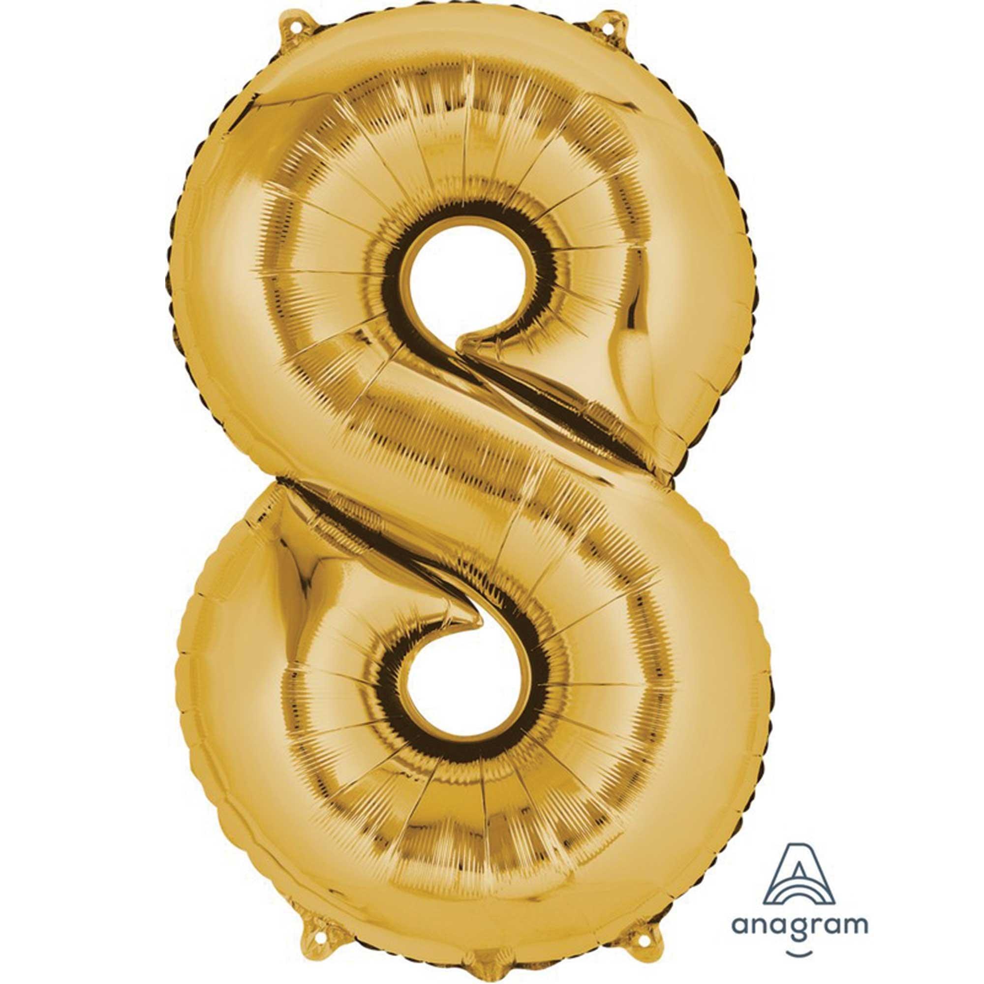 SuperShape Gold Numeral 8.  86cm L34