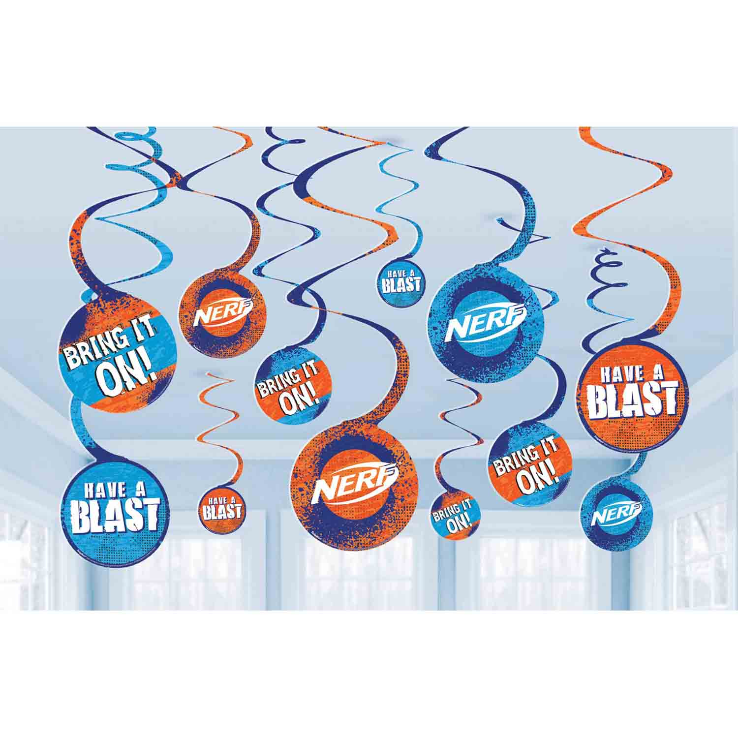 Nerf Spiral Decorations