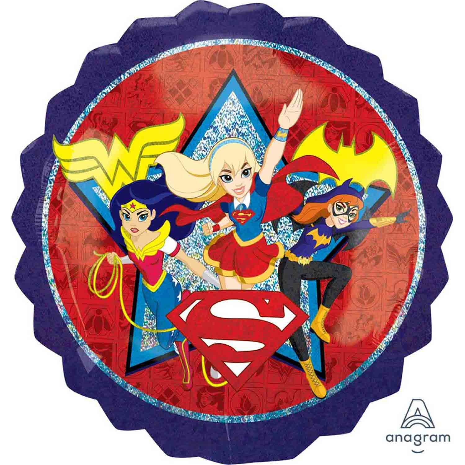 SuperShape Holographic DC Superhero Girls P38