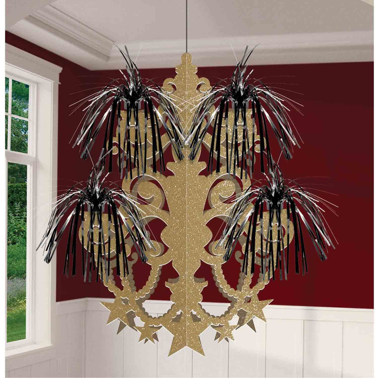 Glitz & Glam Fireworks Chandelier Hanging Decorations Glittered & Foil Sprays