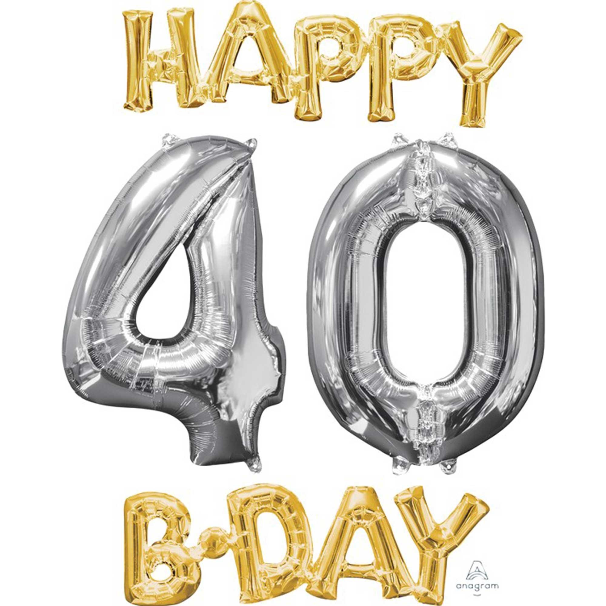 CI: Bunch Happy 40 Birthday Gold & Silver P75