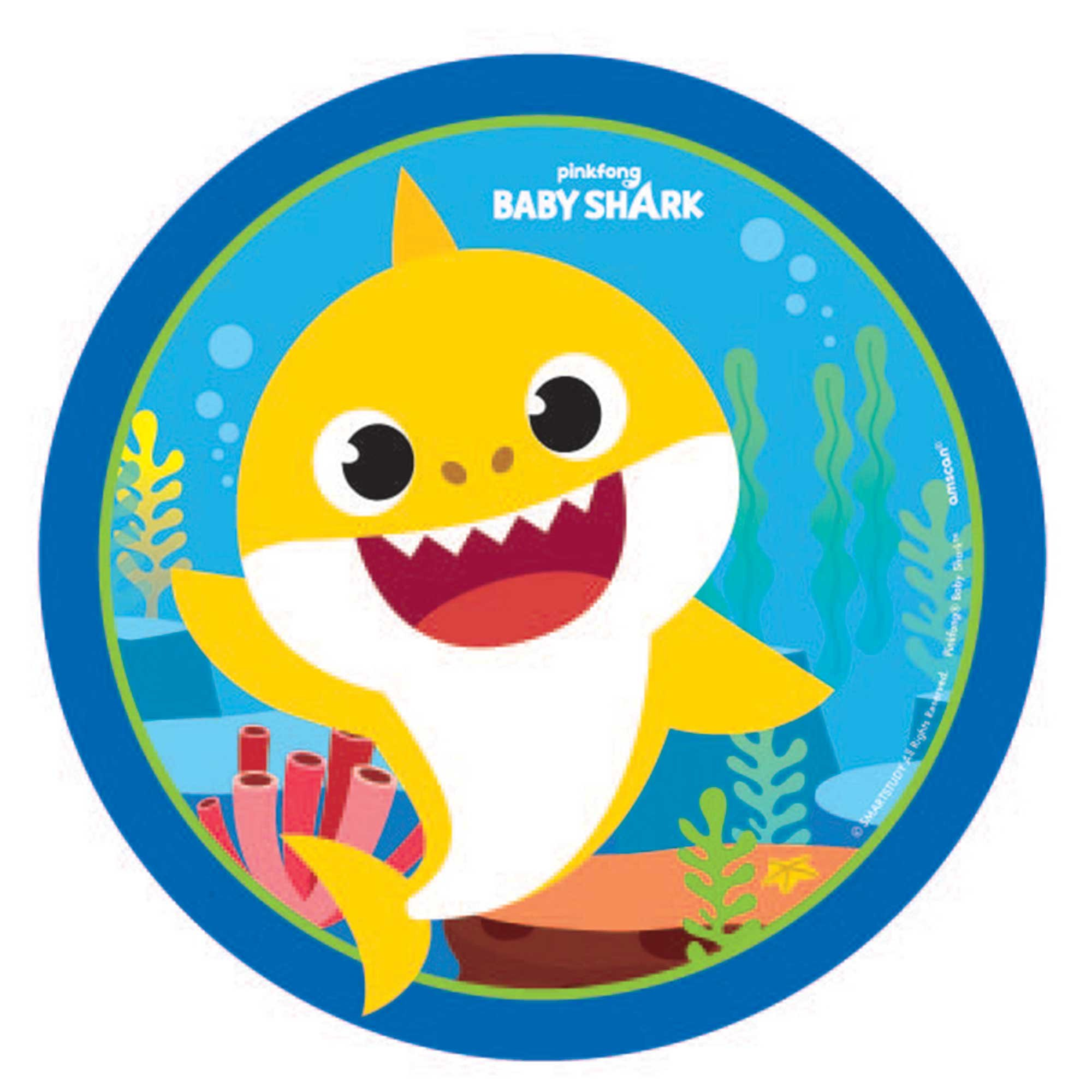"""""""Baby Shark 7"""""""" / 17cm Paper Lunch Plates"""