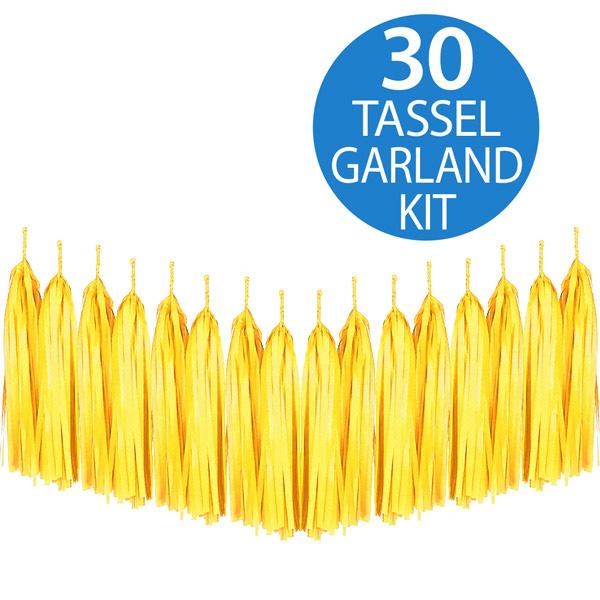 Tassel Garland Tissue Paper Yellow