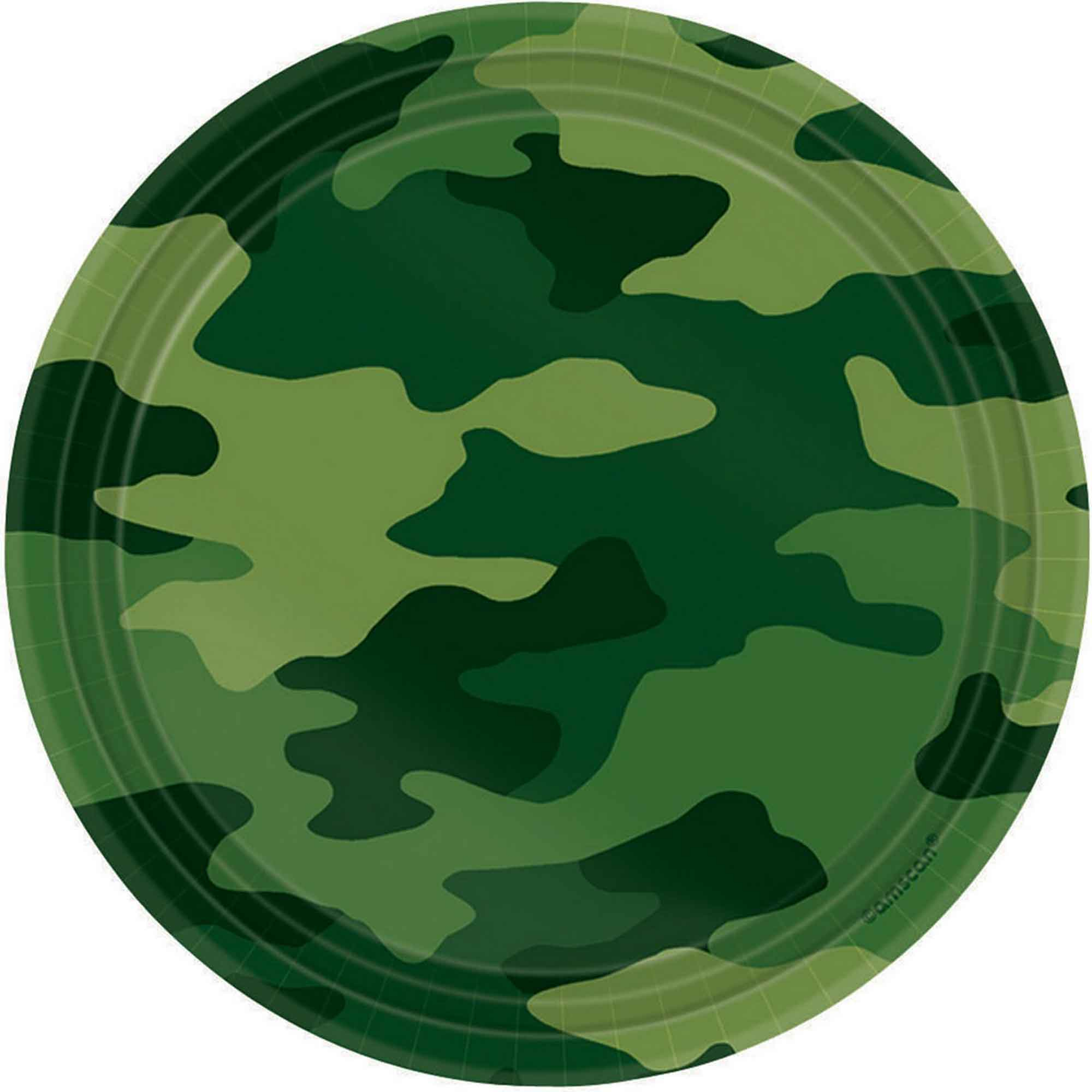 Camouflage 17cm Round Plate
