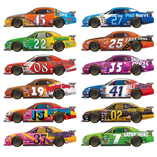 Race Cars Wall Decorations Insta-Theme Props