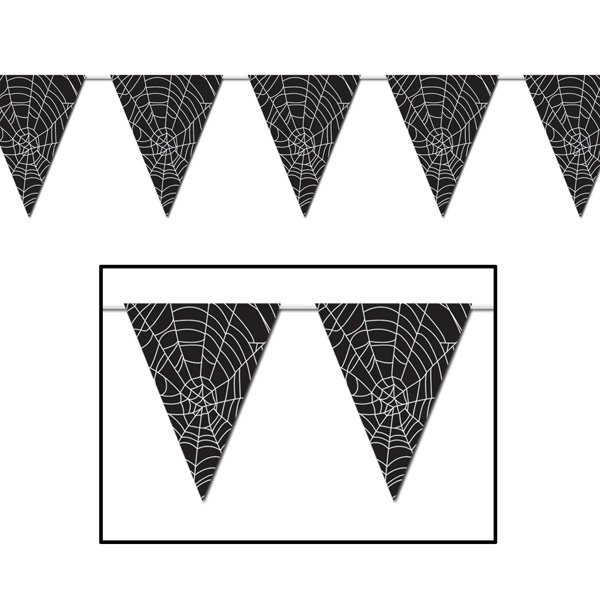 Pennant Flag Banner Spider Web All Weather