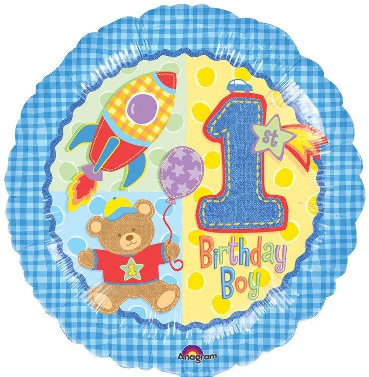45cm Standard XL Hugs & Stitches Boy 1st Birthday S40