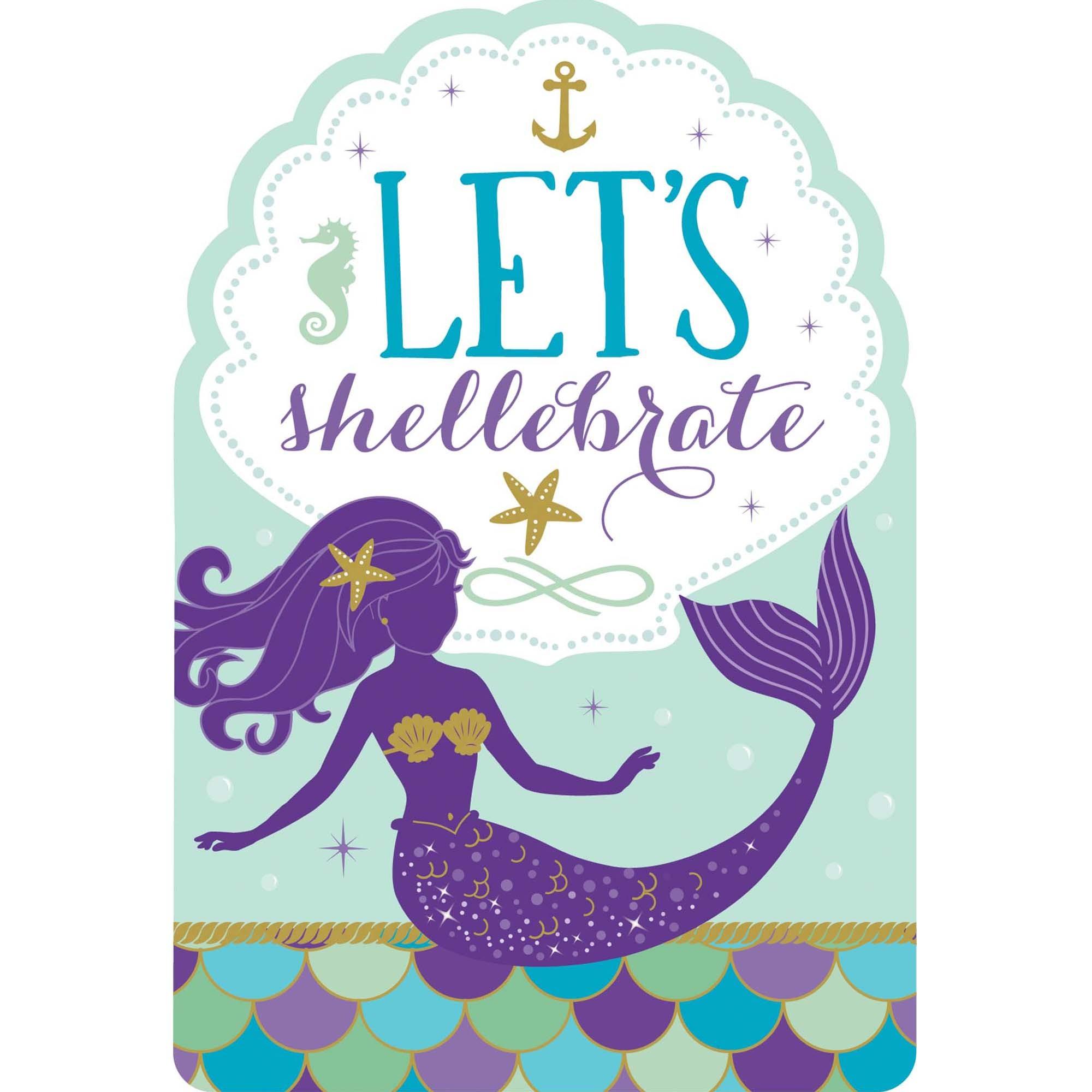 Mermaid Wishes PCard Invites