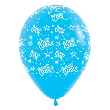 Sempertex 30cm Good Luck Stars Fashion Blue Latex Balloons, 6PK