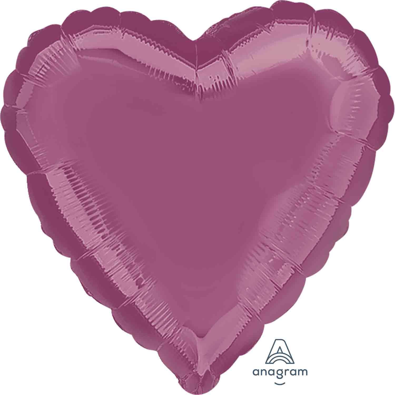 45cm Standard Heart HX Metallic Lavender S15