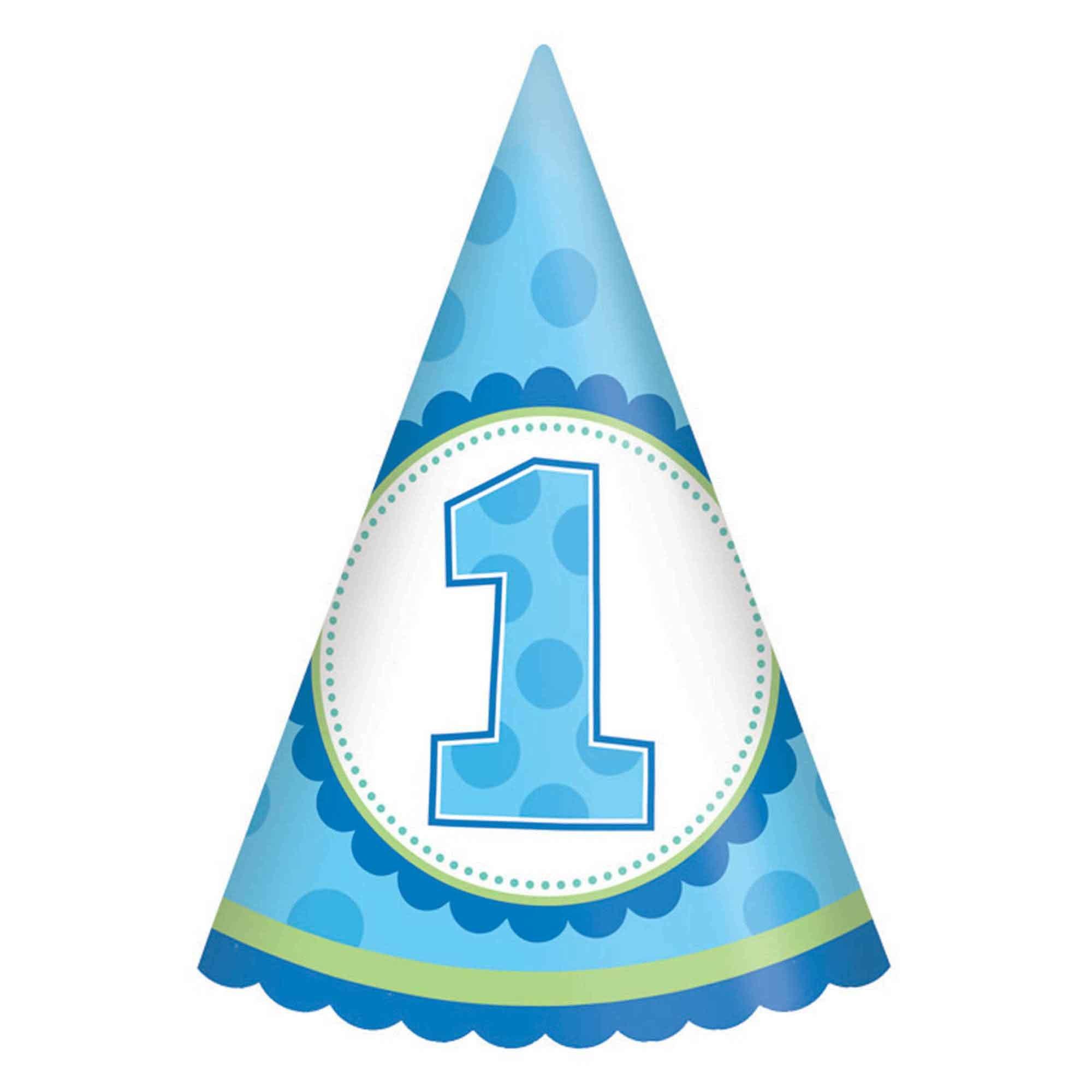 1st Birthday Boy Cone Hat