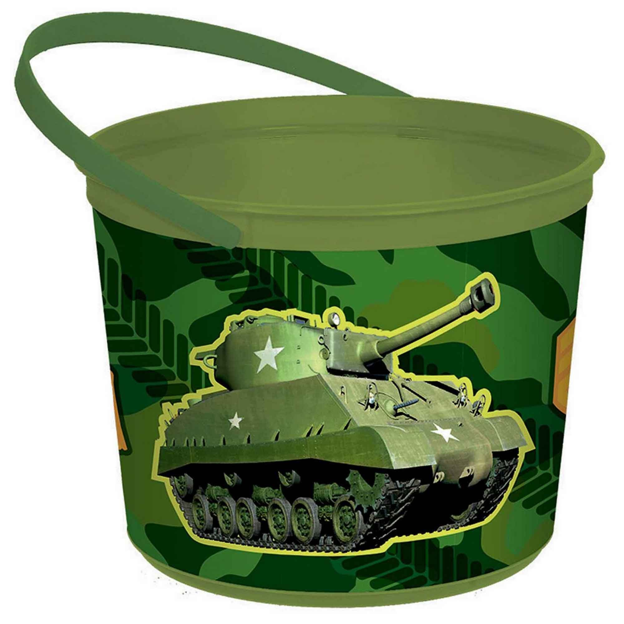 Camouflage Plastic Favor Container