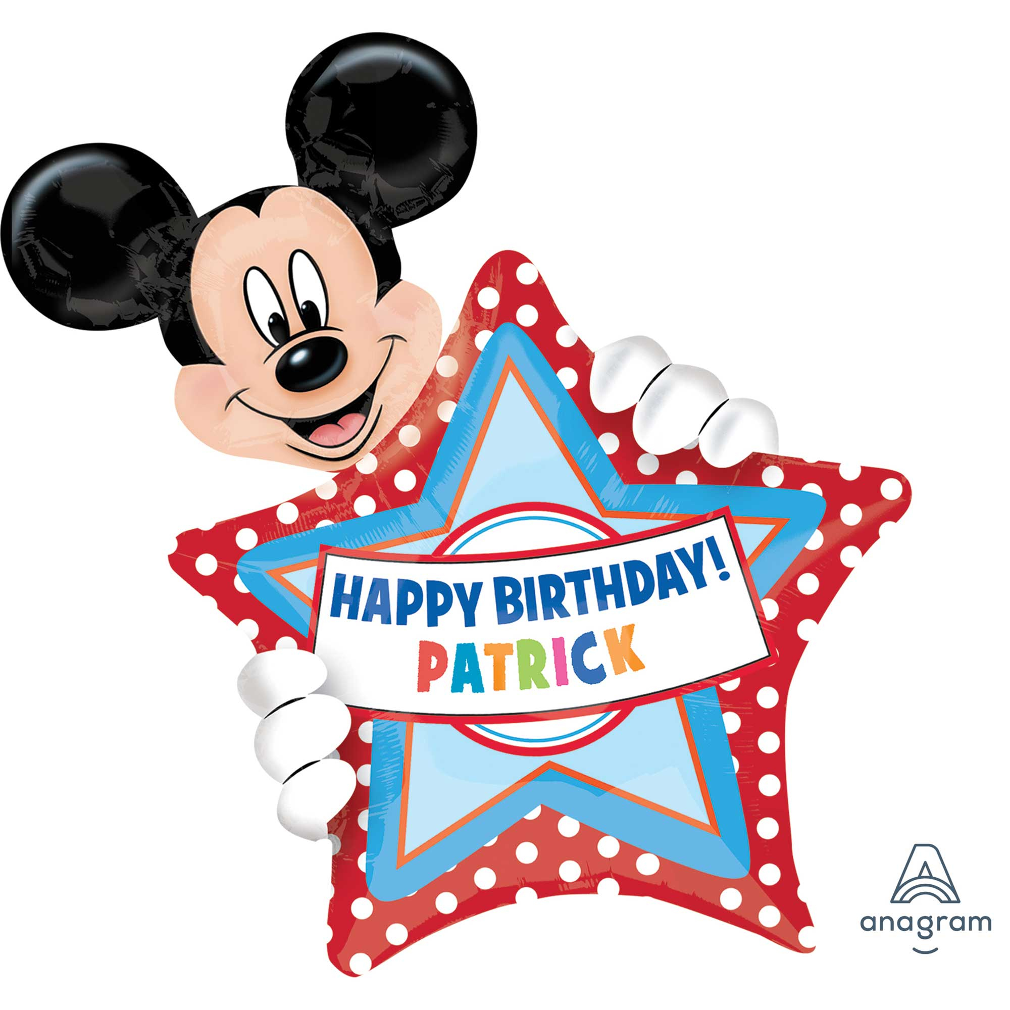 SuperShape XL Personalized Mickey Mouse Happy Birthday P40